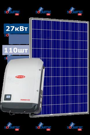 Сетевая CЭС 27 кВт на базе инвертора Fronius