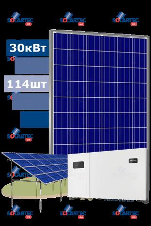 Мережева наземна СЕС 30 кВт на базі інвертора Huawei